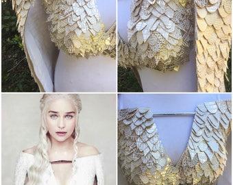 Khaleesi Costume • Daenerys Targaryen • Khaleesi Cosplay • Daenerys Cosplay • Khaleesi Rave Bra (READY TO SHIP!)