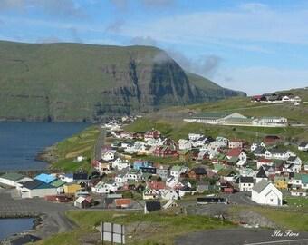 Semi-rigid plastic original photo Ref IF1 Faroe Islands placemat