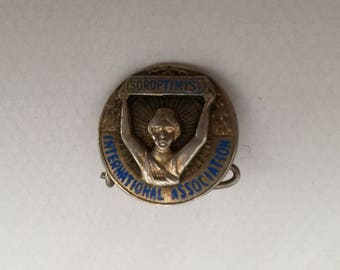 Vintage Silver Soroptimist International Association Pin/Badge/Brooch