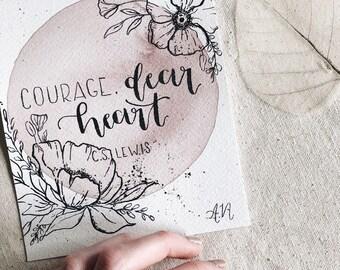 Courage, Dear Heart [C.S. Lewis] (2) (Watercolor)