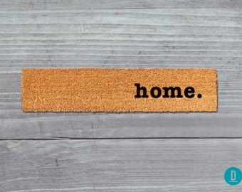 Home Skinny Doormat, Home Door Mat, Home Welcome Mat, Home Skinny Door Mat, Skinny Doormat, Slim Doormat, Slim Mat, Home Mat, Thin Doormat