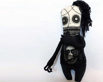Goth Doll Horror Macabre Oddity Scary Art Doll Voodoo
