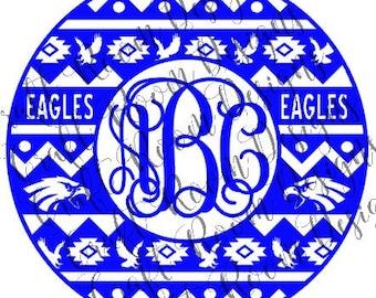 Eagles General Aztec Frame Digital Design