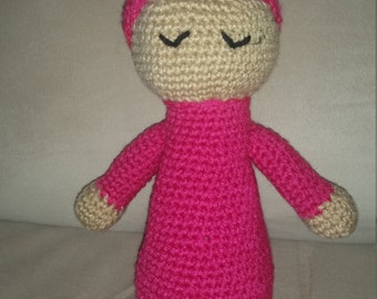 Crochet sleeping baby doll