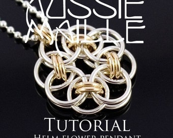 Chainmaille Tutorial - Helm Flower Pendant