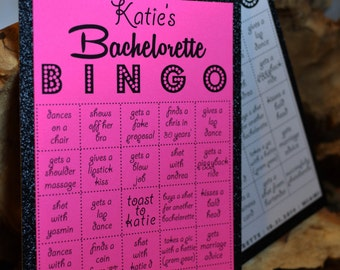 Bachelorette Bingo Cards - Customized