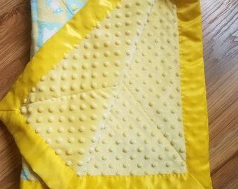Minky Baby Blanket Yellow