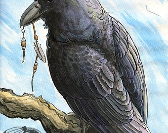 Iridescent Thief - 4x6 Art Print