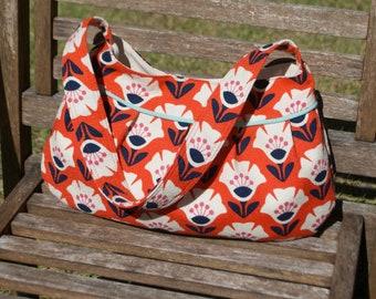 Organic Orange Garden Variety Retro Modern Buttercup Bag, Purse, Handbag