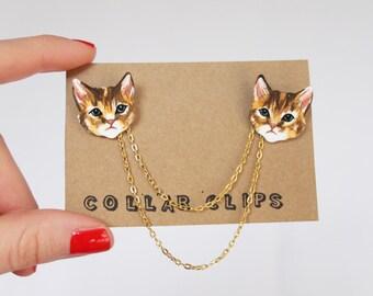 Collar Clips: Tabby Cats