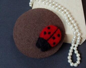 fascinator ladybug on mohair
