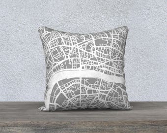 London Map Pillow Cover