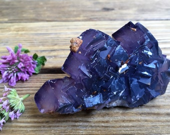 Natural Fluorite Cluster