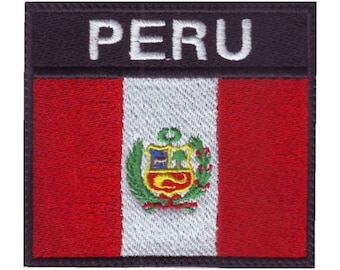 Peru Badge Flag Embroidered Patch