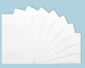 25 Coin Envelopes in Golden Kraft or White,  2 1/4 x 3 1/2 inches