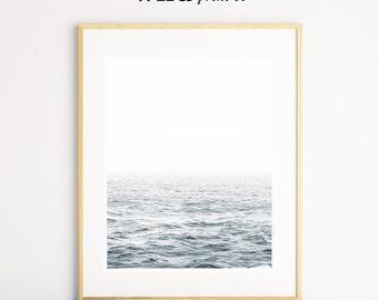 Ocean Print, Ocean Wall Art, Beach Decor, Modern Art, Minimalistic Art, Calm Photos, Ocean Photography Print, Printable Art