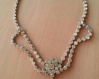 Vintage Crystal necklace Victorian