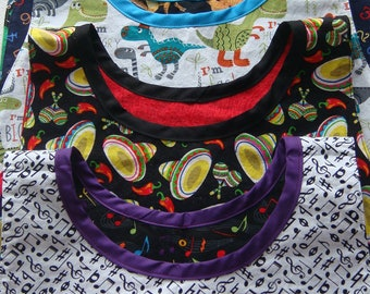 Montessori-style Children's Apron / Bib / Smock--Fun Prints