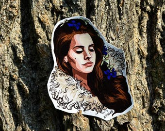 Lana Del Rey, Vinyl Sticker, Waterproof, Glossy| Free shipping