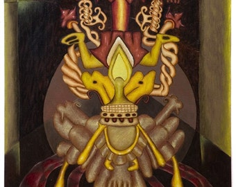 Ah Muzen Cab, Limited Edition Print on Canvas- 1 of 3