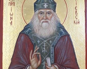 Saint Iona orthodox icon hand painted on icon wood