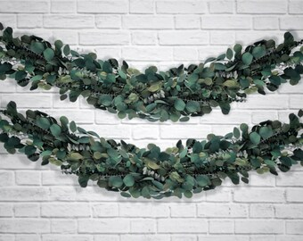 PRESERVED EUCALYPTUS GARLAND Greenery Garland for Wedding Decor Table Runner Green Leaf Garland Preserved Greenery Centerpiece