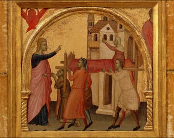 Poster, Many Sizes Available; 10 Allegretto Nuzi, The Resurrection Of Drusiana, Ca. 1370