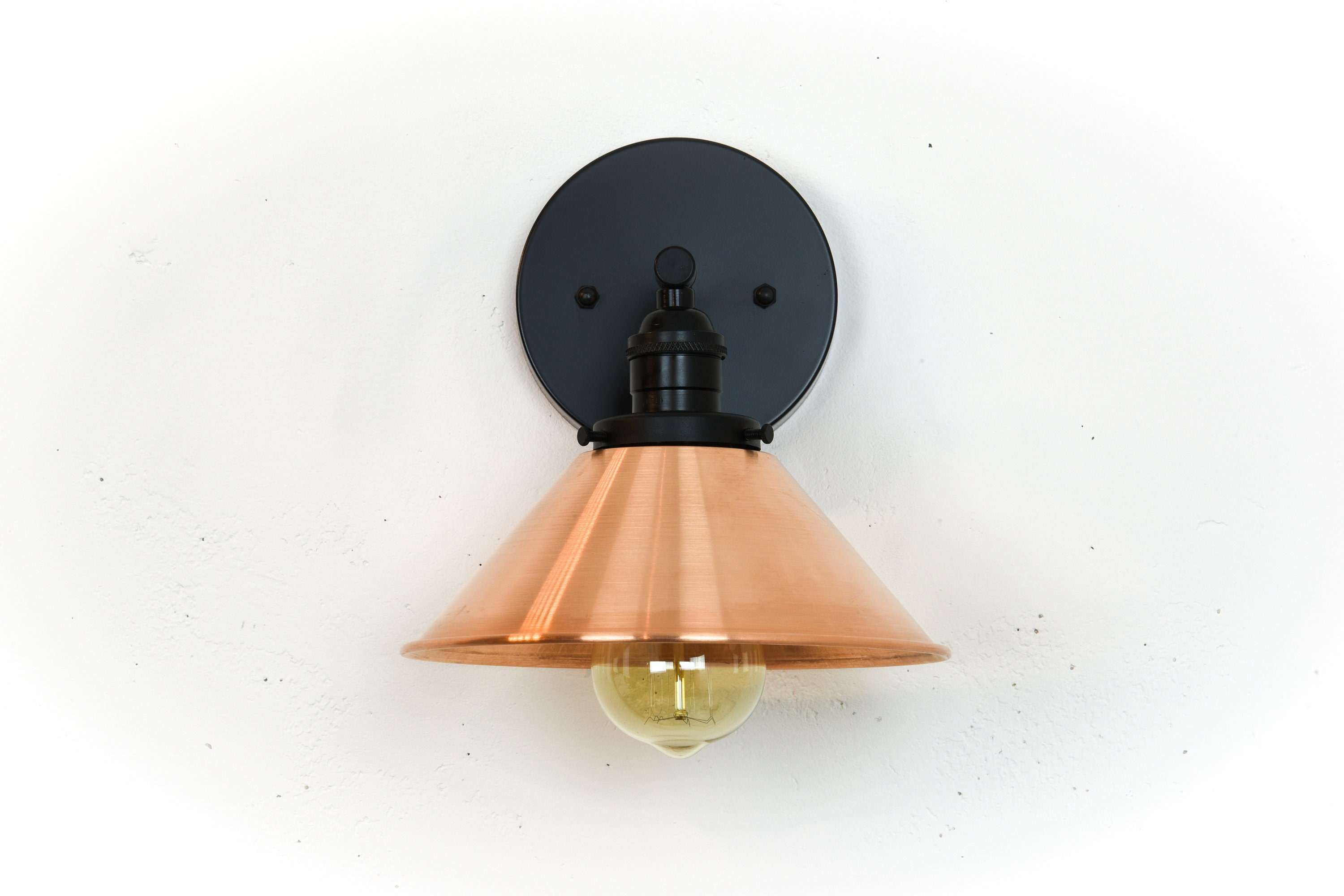 sconce mounted in copper walls modern clear glass wall timeless the with sconces