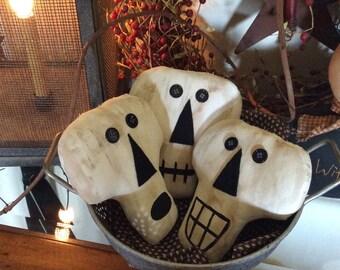 Set of 3! Primitive skeleton head bowl fillers