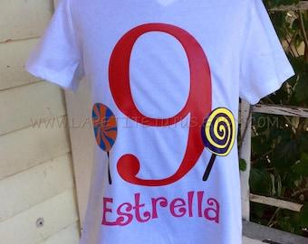 lollipop birthday shirt, birthday shirt, candy theme, boys shirt, girls shirt, toddler shirt, toddler clothing, onepiece, clothing,