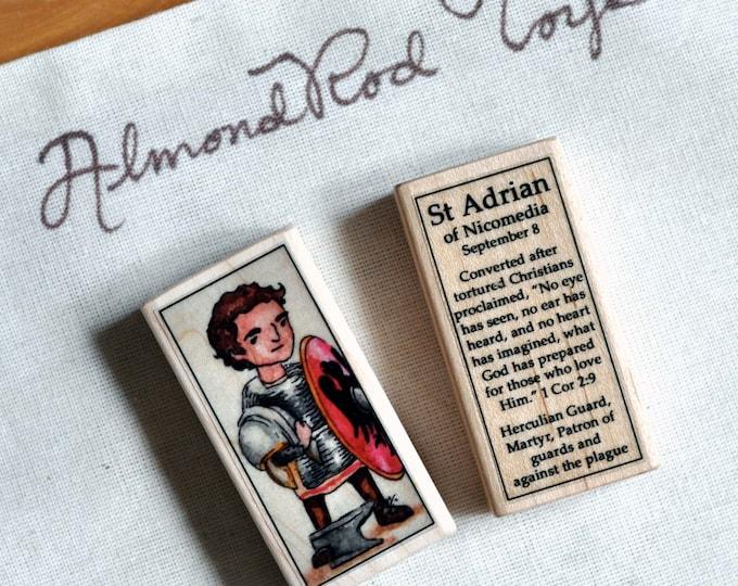 St Adrian of Nicomedia Patron Saint Block // 100+ Catholic Saints to choose from // Catholic boy