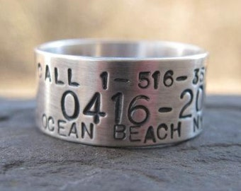 Personalized Sterling Silver Goose, Duck Band Ring . custom for the avid hunter in your life . wedding band . any finger size made to order