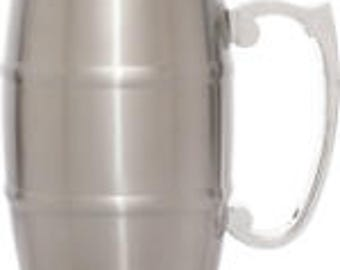 Metal Barrel Mug with Handle - 17 ounce