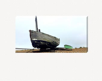 Fishing Boats On The Shore Canvas