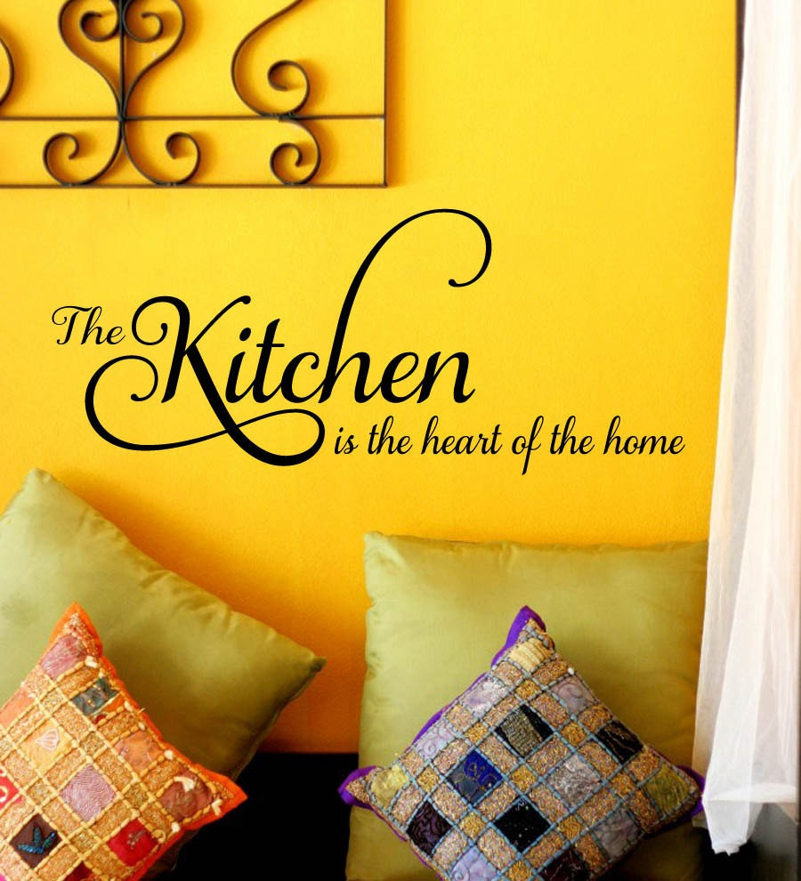 the Kitchen is the Heart of the Home Family Vinyl Wall Decal