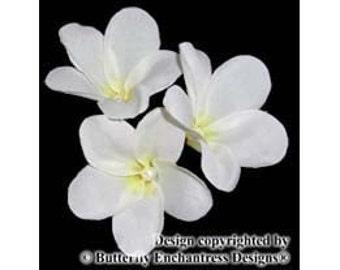 3 Plumeria Flower Bridal Hair Pins for Beach Destination Wedding