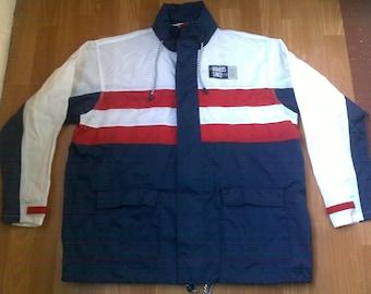 TCM jacket, vintage jacket of 90s hip-hop clothing, 1990s hip hop sailor college jacket, OG, gangsta rap, size XL