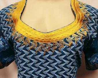 Talana Seshweshwe African Print Dress