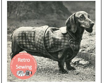 Dachshund -  Dog Coat Sewing Pattern - PDF Sewing Pattern - PDF Instant Download