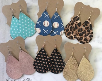 Beautiful Leather Earrings | Genuine Leather | Nickel Free Ear Wire | Pick your pair