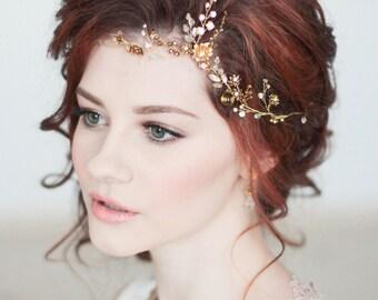 Bridal Headdress Floral Tiara Flower Hair Vine Bridal Headpiece Wedding Headpiece Wedding Headdress Bridal Hair VIne Bridal Hair Comb