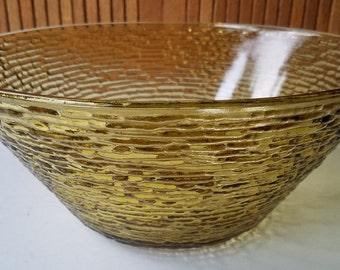 Vintage Anchor Hocking Soreno-Gold Salad Bowl