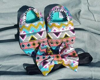 Colorful Aztec Non-Slip Booties