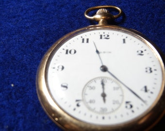 Great Looking Gentleman's 12 Size 15 Jewels Elgin Pocket Watch