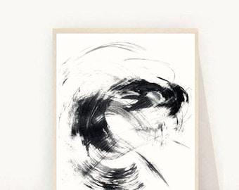 Abstract Art Print, Printable Art, Minimalist Art, Abstract Print, Instant Download, Modern Wall Art, Wall Decor, Black Abstract