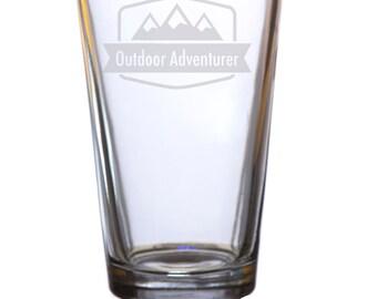 Outdoor Adventurer Pint glass