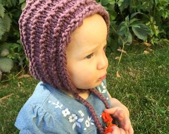 Baby or Toddler Pixie Bonnet, Knit Pixie Hat, Pixie Hood, Elf Hat, Gnome Hat