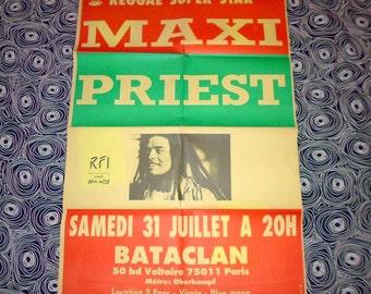 1992 Maxi Priest affiche concert Paris originale