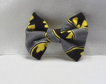 batman hair bow, batman hair accessories, fabric hair accessories