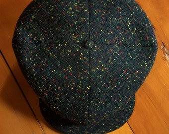 THE CLOVER Cap - Bespoke 1920's Style Four-Panel Newsboy Cap - 7 1/4""